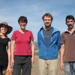 Feldarbeitsteam 1- Vita, Gudrun, Marko, Peter