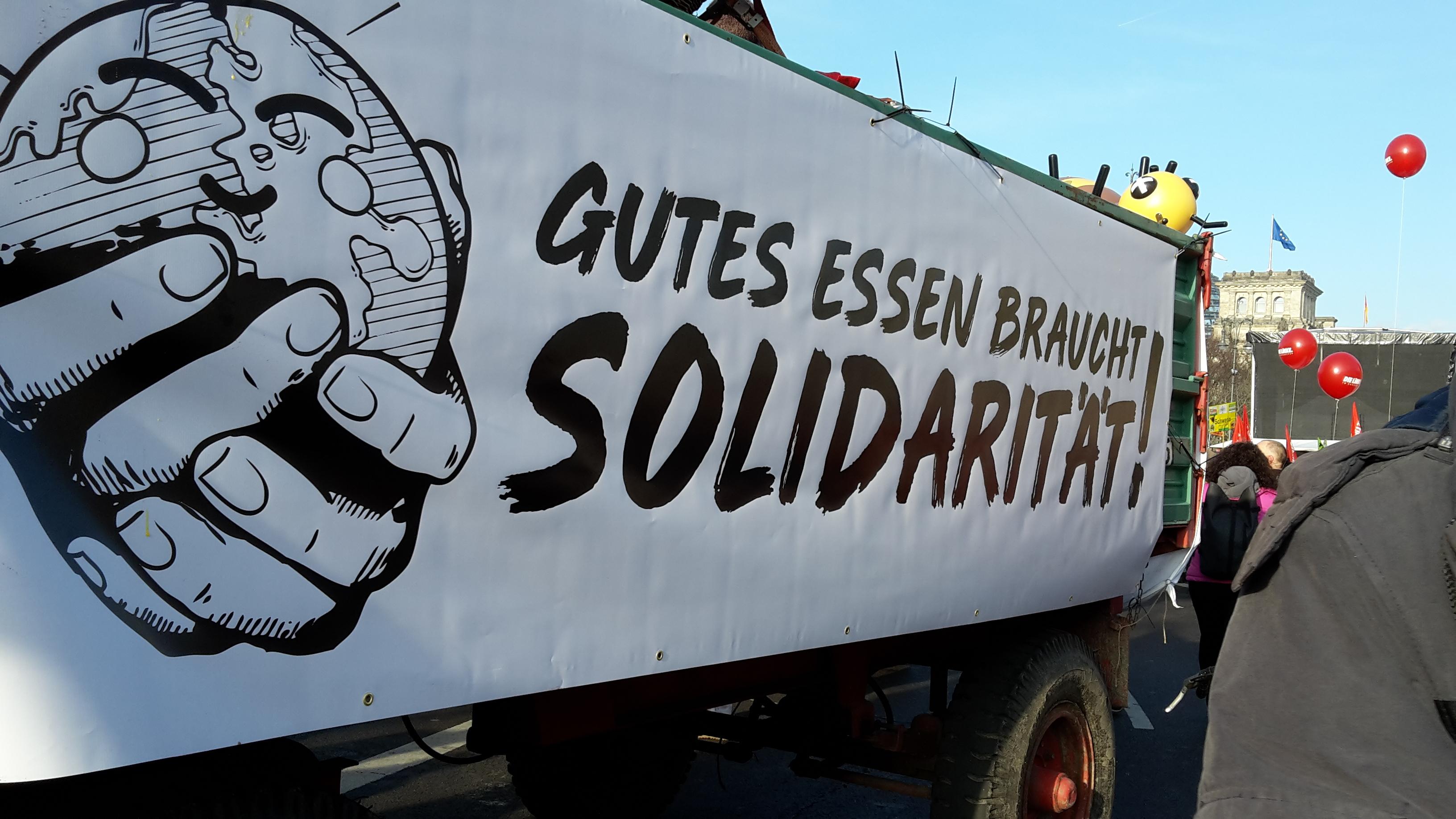 """You are currently viewing """"Wir haben es satt!"""" 19.1.19 in Berlin – Wir kommen wieder"""
